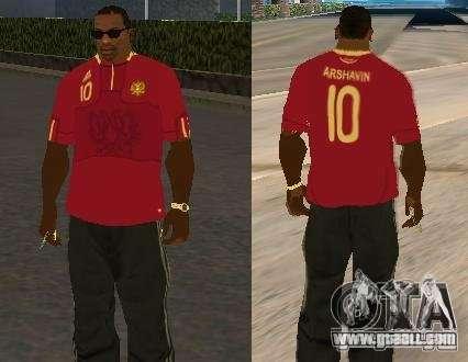 T-shirt Arshavin for GTA San Andreas
