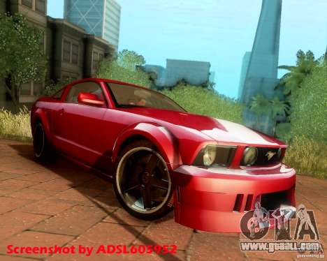 Ford Mustang GT 2005 Tunable for GTA San Andreas back view