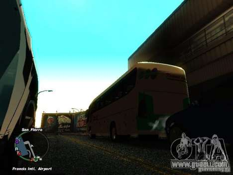 Bus Kramat Djati for GTA San Andreas back left view