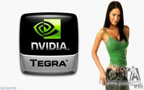 Boot screens Megan Fox for GTA San Andreas
