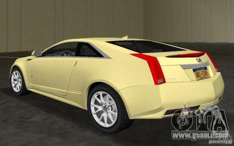 Cadillac CTS-V Coupe for GTA Vice City back left view