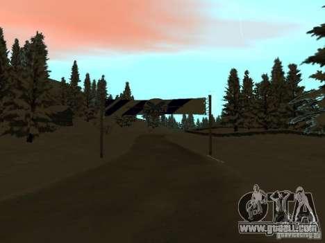 Winter Trail for GTA San Andreas second screenshot