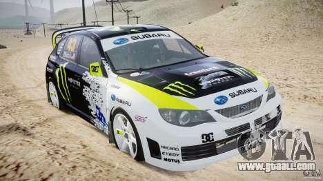 Subaru Impreza WRX STi 2009 Ken Block for GTA 4 inner view