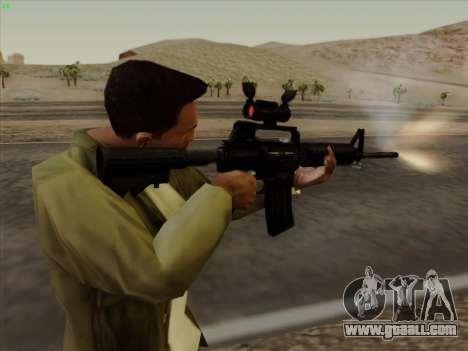 Colt Commando Aimpoint for GTA San Andreas sixth screenshot