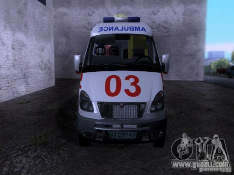 Gazelle 2705 ambulance for GTA San Andreas right view