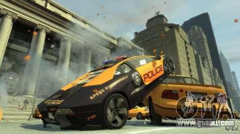 Lamborghini Reventon Police Hot Pursuit for GTA 4 back left view