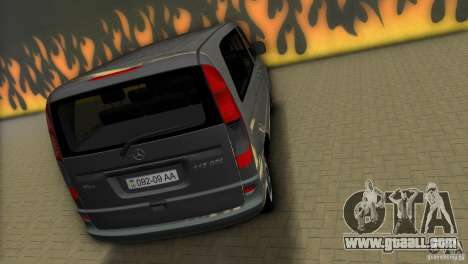 Mercedes-Benz Vito 2007 for GTA Vice City back left view
