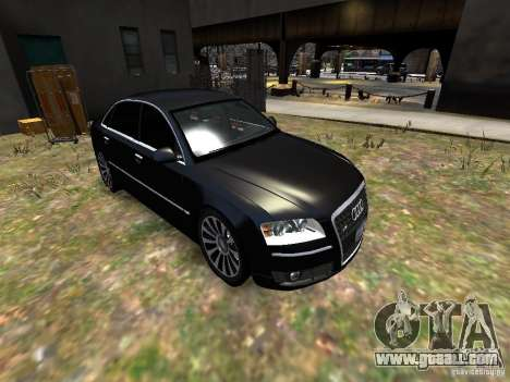 Audi A8L W12 for GTA 4 side view