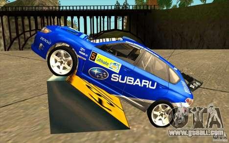 New vinyl to Subaru Impreza WRX STi for GTA San Andreas left view
