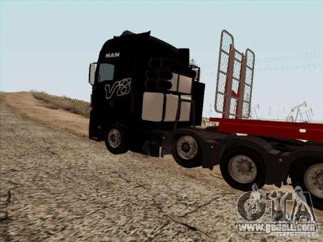MAN TGX 8x4 for GTA San Andreas back view