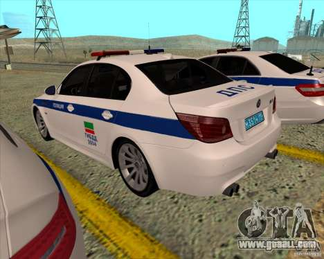 BMW M5 E60 DPS for GTA San Andreas back left view