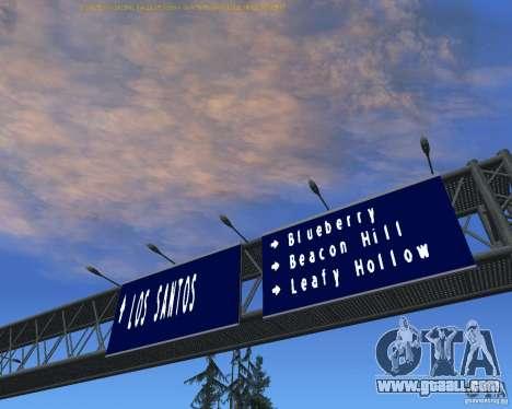 Road signs v1.1 for GTA San Andreas