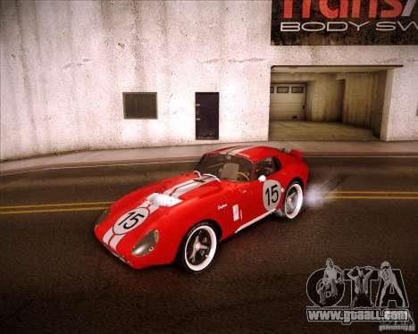 Shelby Cobra Daytona Coupe 1965 for GTA San Andreas