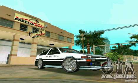 Toyota Trueno AE86 4type for GTA Vice City back view