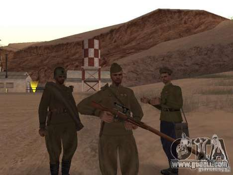 WORLD WAR II Soviet soldier skin for GTA San Andreas