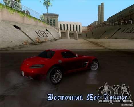 Mercedes-Benz SLS AMG V12 TT Black Revel for GTA San Andreas interior