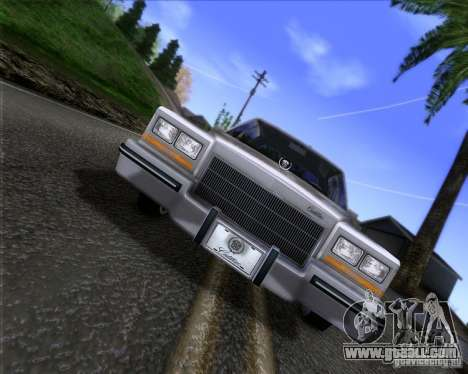 Cadillac Fleetwood Brougham 1985 for GTA San Andreas back left view