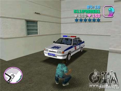 VAZ 2115 DPS for GTA Vice City back left view