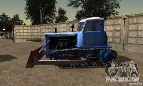 Bulldozer of DT-75 Kazakhstan for GTA San Andreas left view
