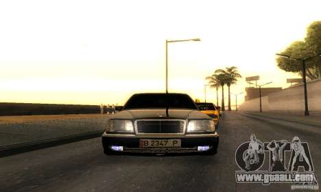 Mercedes-Benz W124 E420 AMG for GTA San Andreas back view