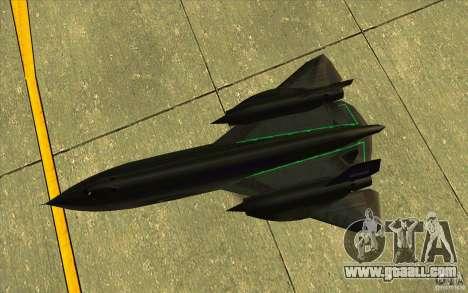 SR-71A BLACKBIRD BETA for GTA San Andreas side view