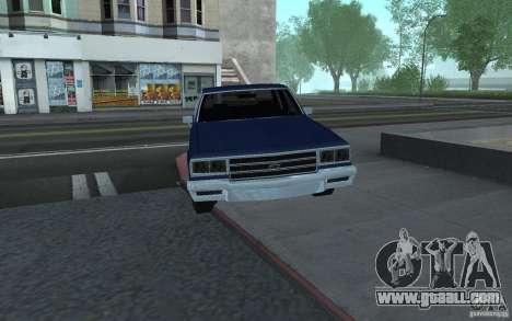 1983 Chevrolet Impala for GTA San Andreas back left view