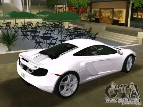 Mclaren MP4-12C for GTA Vice City back view