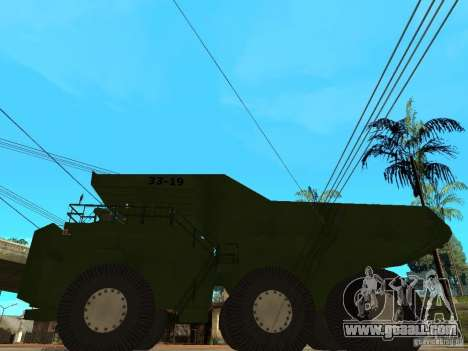Belaz for GTA San Andreas left view