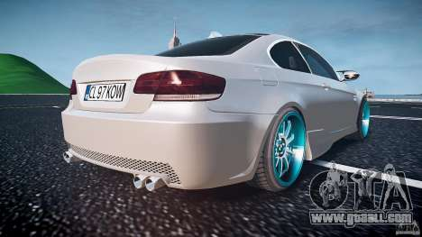 BMW E92 for GTA 4 bottom view