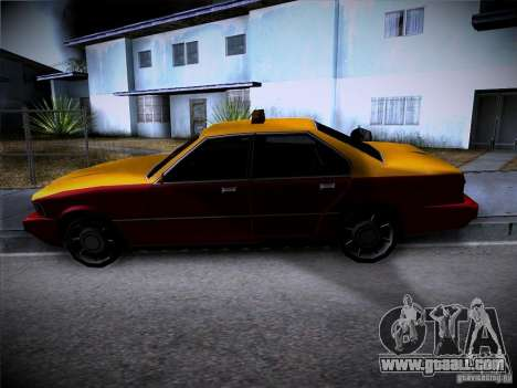 Sentinel Taxi for GTA San Andreas back view