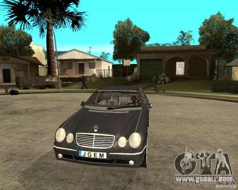 Mercedes–Benz E Class for GTA San Andreas back view