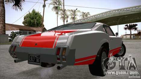 Sabre GT From GTA IV for GTA San Andreas back left view