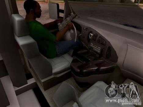 Ford E-350 Ambulance v2.0 for GTA San Andreas inner view