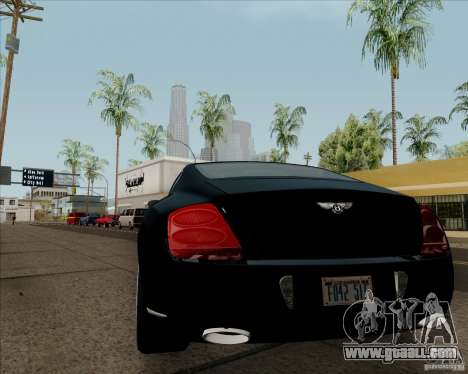 Bentley Continental GT V1.0 for GTA San Andreas back left view