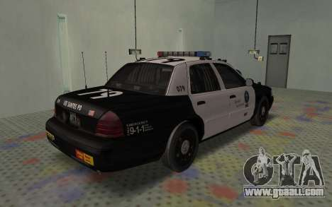 Ford Crown Victoria Police Interceptor LSPD for GTA San Andreas back left view