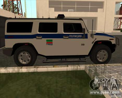 Hummer H2 DPS for GTA San Andreas left view