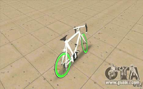 Fixie Bike for GTA San Andreas back left view