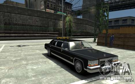 Cadillac Fleetwood Limousine 1985 [Final] for GTA 4 back view