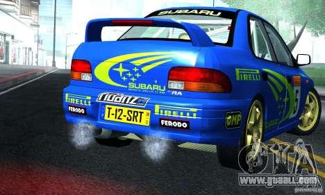 Subaru Impreza 1995 World Rally ChampionShip for GTA San Andreas right view