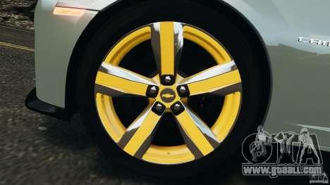 Chevrolet Camaro ZL1 2012 v1.2 for GTA 4 bottom view