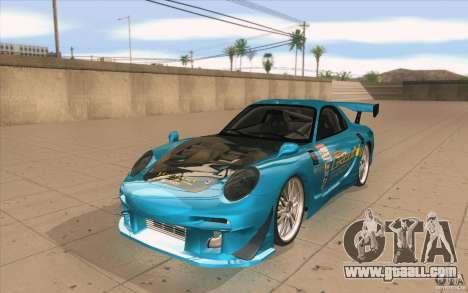 Mazda RX-7 911 Trust for GTA San Andreas
