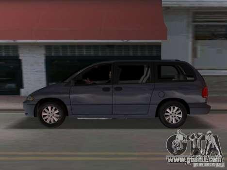 Dodge Grand Caravan for GTA Vice City left view
