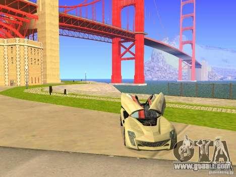 Bertone Mantide for GTA San Andreas bottom view