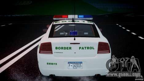 Dodge Charger US Border Patrol CHGR-V2.1M [ELS] for GTA 4 engine
