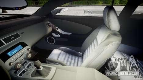 Chevrolet Camaro SS 2009 v2.0 for GTA 4 inner view