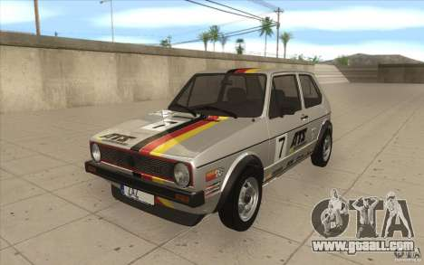 Volkswagen Golf Mk1 - Stock for GTA San Andreas engine