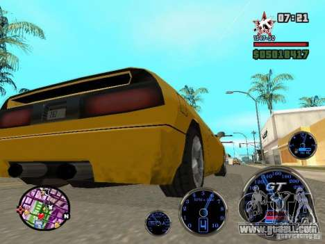 Speedometer GT for GTA San Andreas forth screenshot