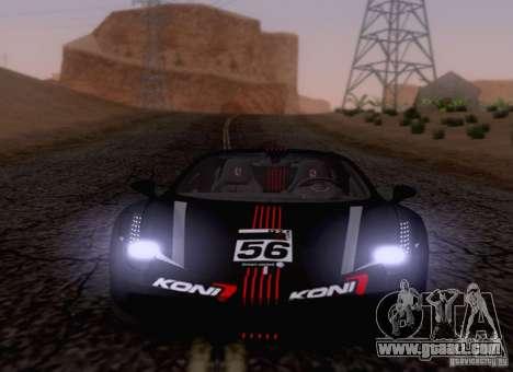 Ferrari F458 for GTA San Andreas inner view