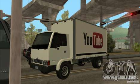 Truck with logo YouTube for GTA San Andreas