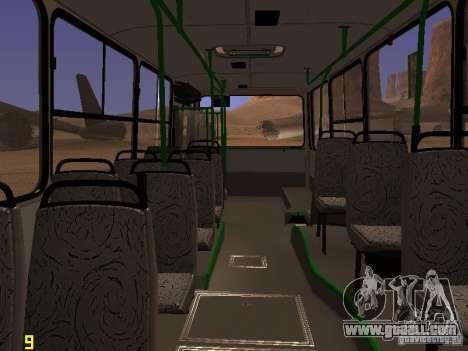 Ikarus C63 for GTA San Andreas inner view
